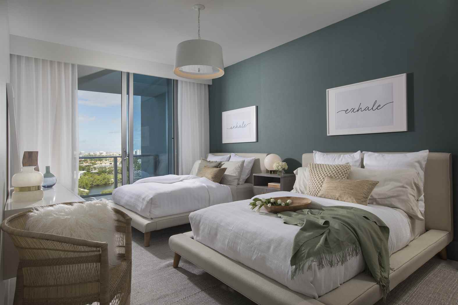 Modern coastal miami condo residential interior design from dkor interiors