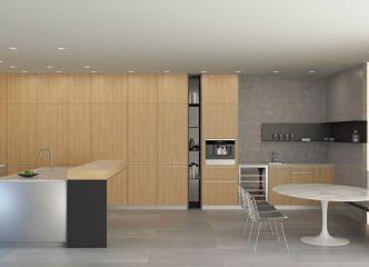 Contemporary Retreat: Kitchen & Breakfast Area Layout 3