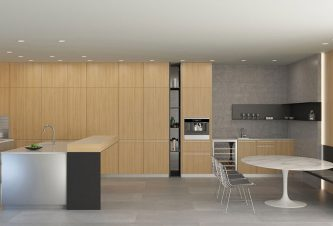 Contemporary Retreat: Kitchen & Breakfast Area Layout 3