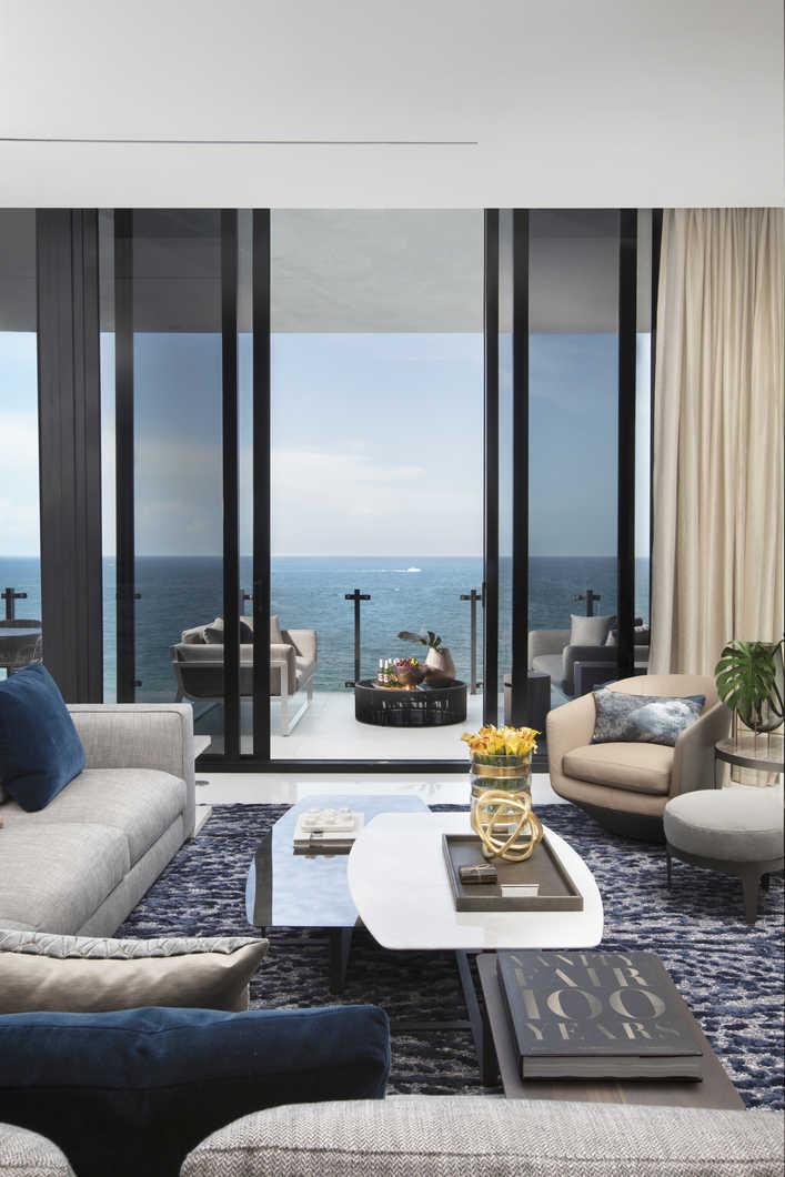 Living Room Balcony Design: Residential Interior Design From