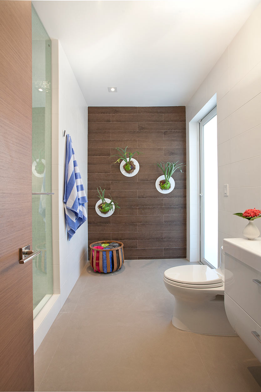 Wood on Bathroom Design