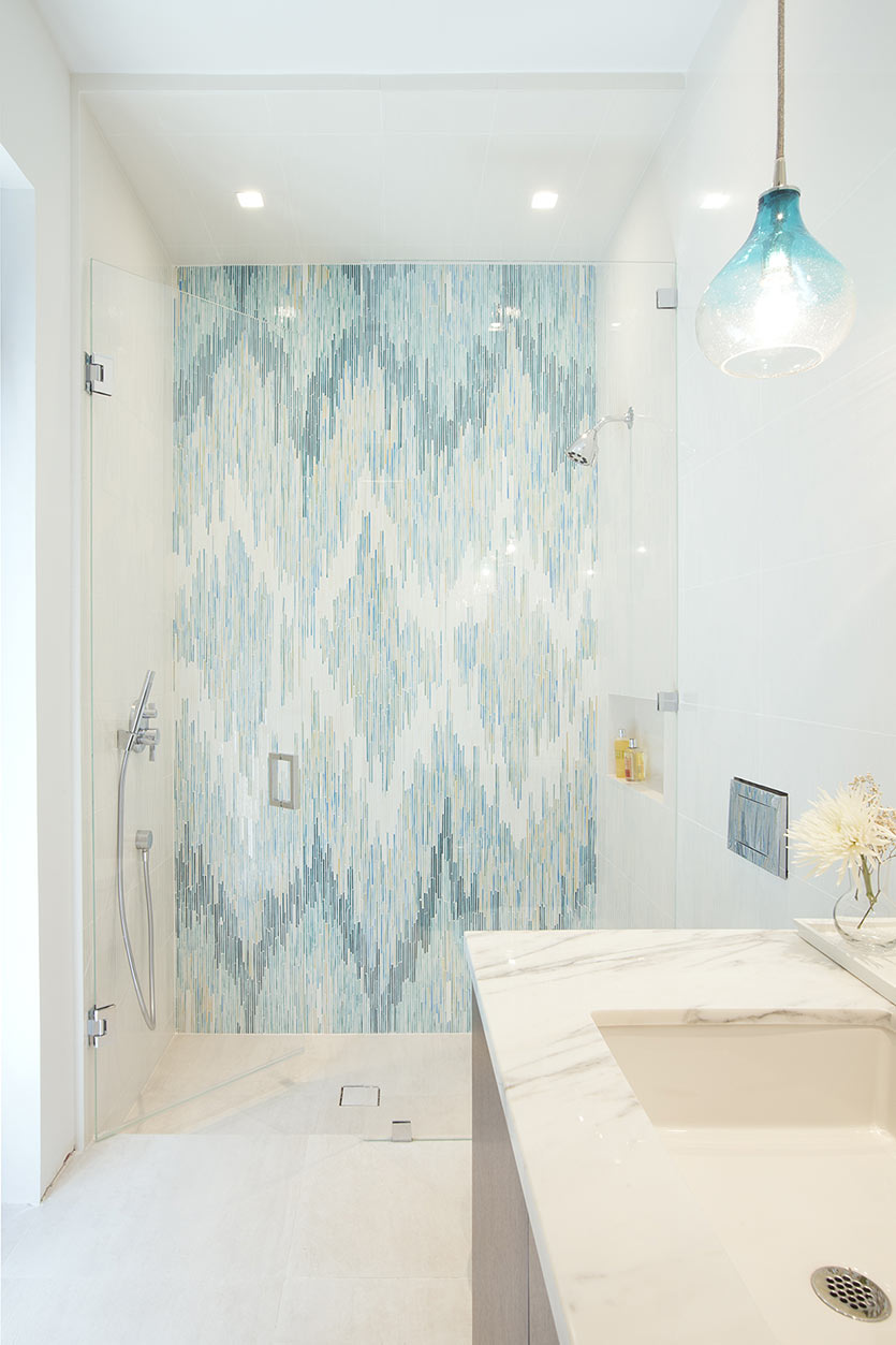 Bathroom Design Blue Tiles