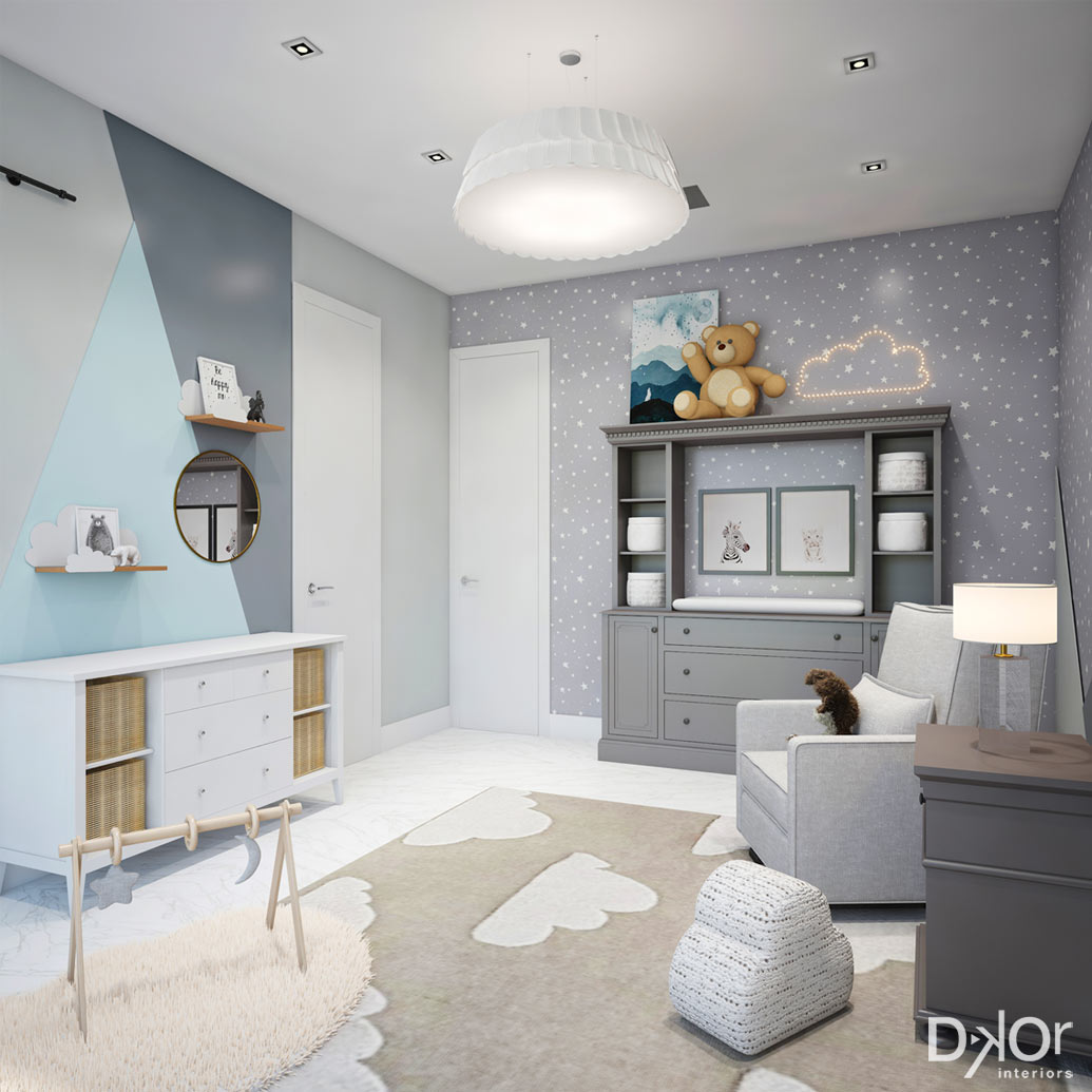 Room For Two Shared Bedroom Ideas: Modern, Prism-Inspired Kids' Rooms By DKOR Interiors