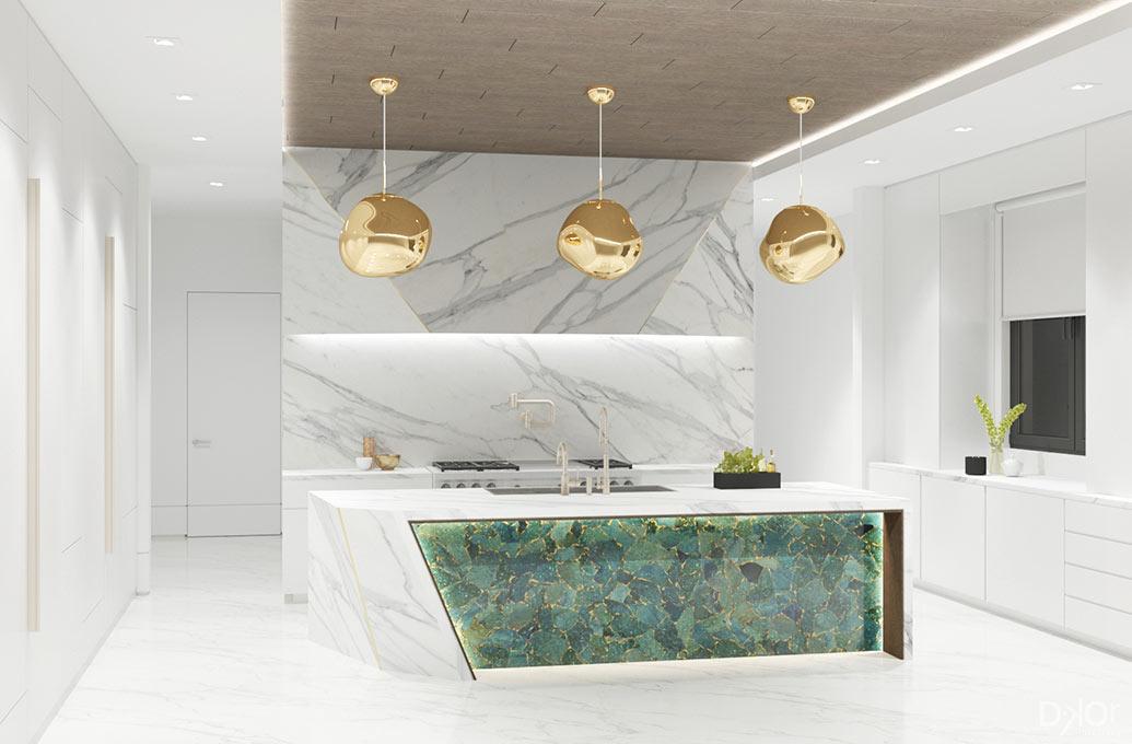 Modern kitchen design plan
