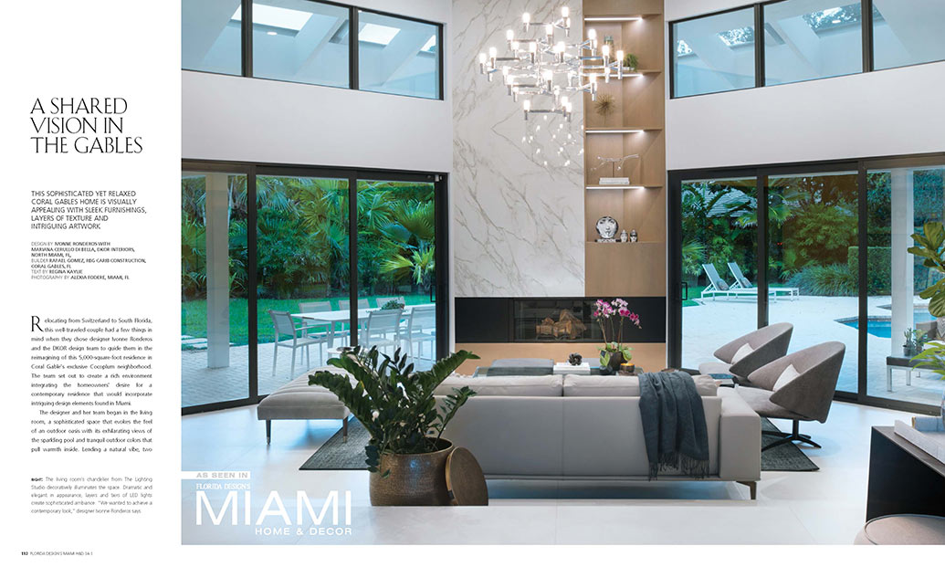 Coral Gables Design By Dkor Featured On Miami Home Decor