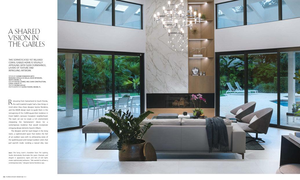 Coral Gables Design Magazine - DKOR Interiors Project