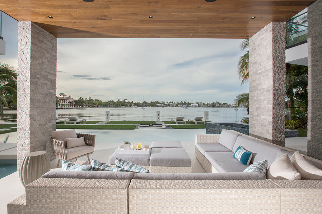 Waterfront Contemporary Elegance Outdoor Fort Lauderdale