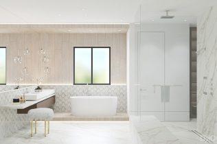Bathroom Design By DKOR Interiors - Wood Look Tile