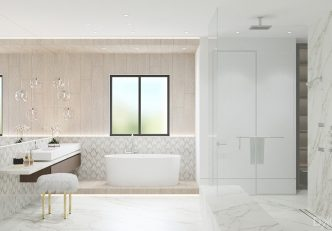 Bathroom Design By DKOR Interiors - Wood Look Tile