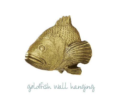 Goldfish wall hanging