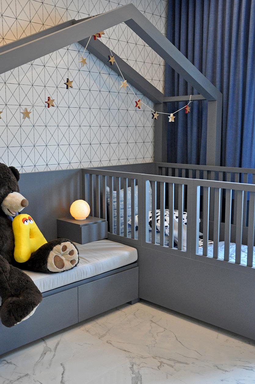 modern toddler custom bed