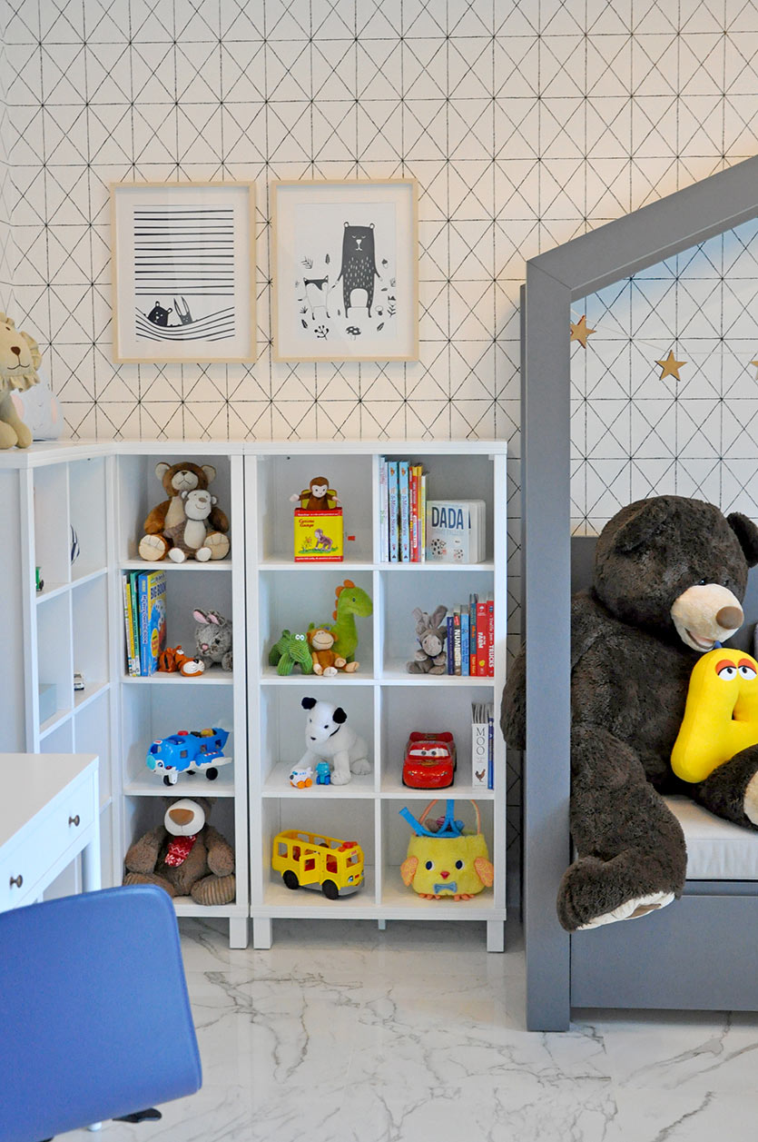 modern toddler bedroom bookcases