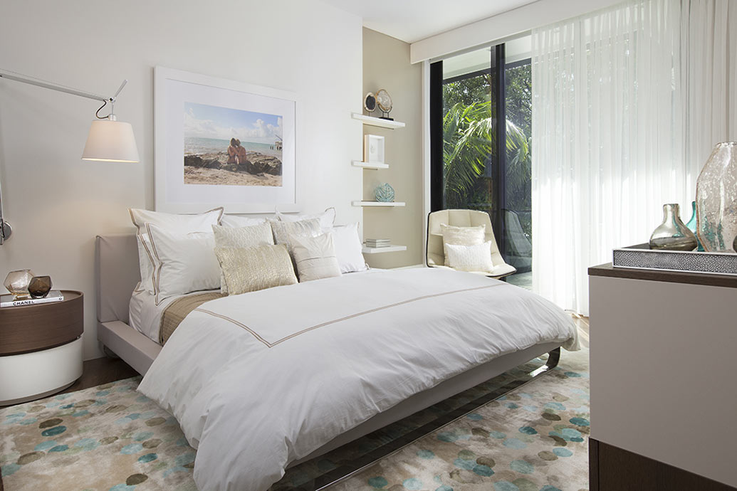 Bedroom Design - White Sheers