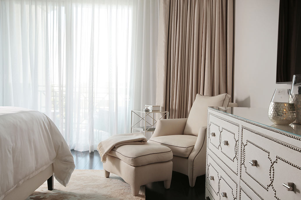 Double Drapery - Bedroom Design