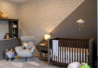 Modern Gray Nursery Design By DKOR Interiors