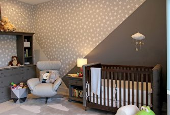 Modern Gray Nursery Design By DKOR Interiors