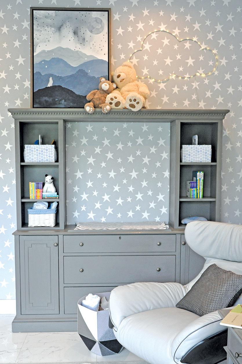 Gray Nursery Dresser