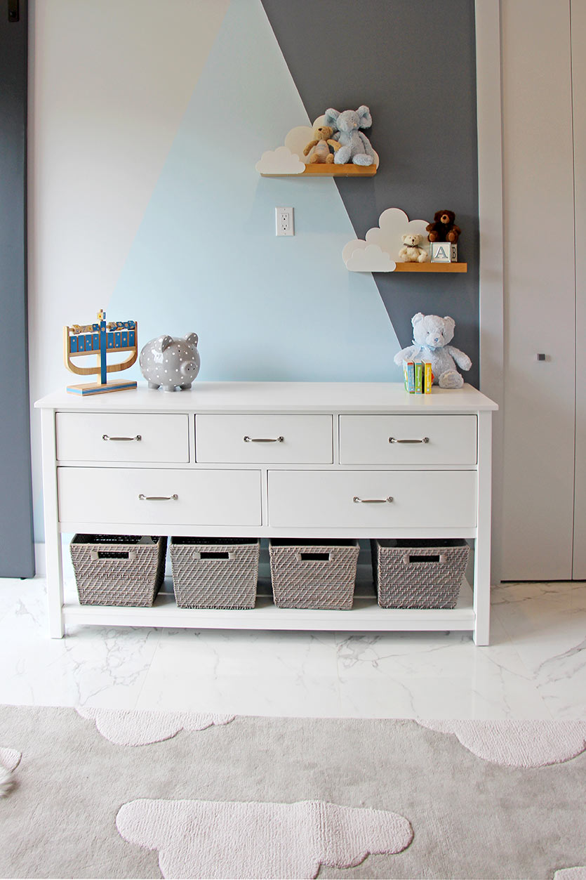 Gray Nursery - Storage Ideas