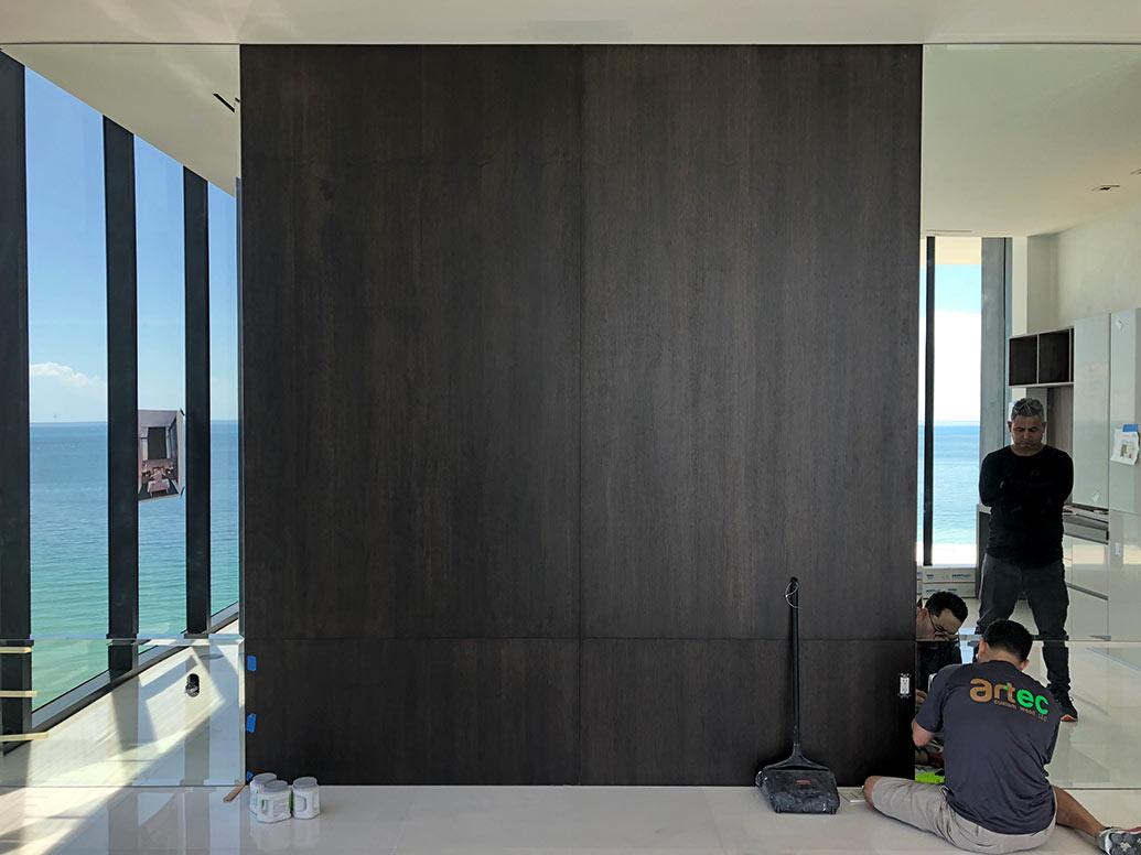 Condo Interior Design - Master Bedroom Carpentry