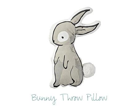 Nursery Decorating Ideas - Bunny Throw Pillow