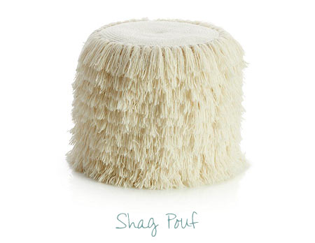Nursery Decorating Ideas - Shag Pouf