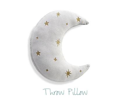Nursery Decorating Ideas - Moon Pillow