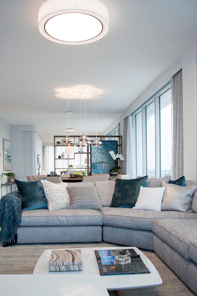 Sunny Isles Condo Design - Living Room