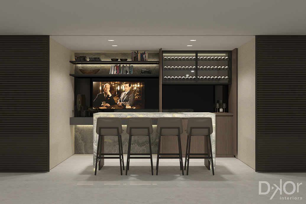 Home Bar Design by DKOR Interiors