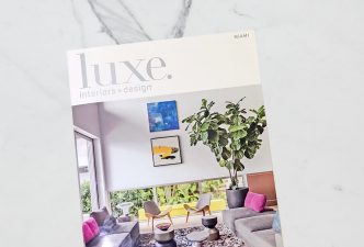 Luxe Magazine Cover - Interior Design Project
