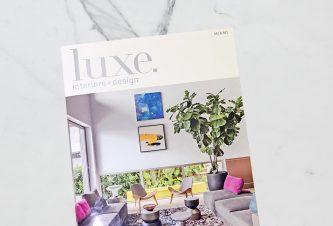 Luxe Magazine Cover - Interior Design Project