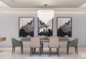 Mid-Century Modern Beach Retreat Dining Room