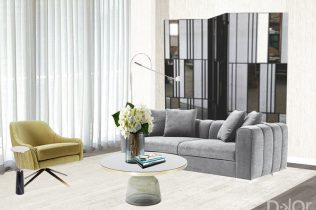 Dream Vacation Home - Living Room Design By DKOR Interiors