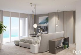 Modern Beachfront Condo Master Bedroom