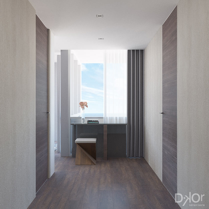Modern Master Bedroom - Entrance by DKOR Interiors