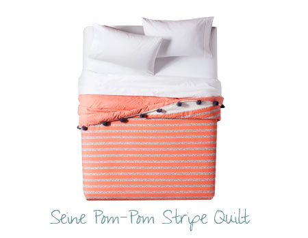 Pantone color of the year home decor - Pom pom quilt