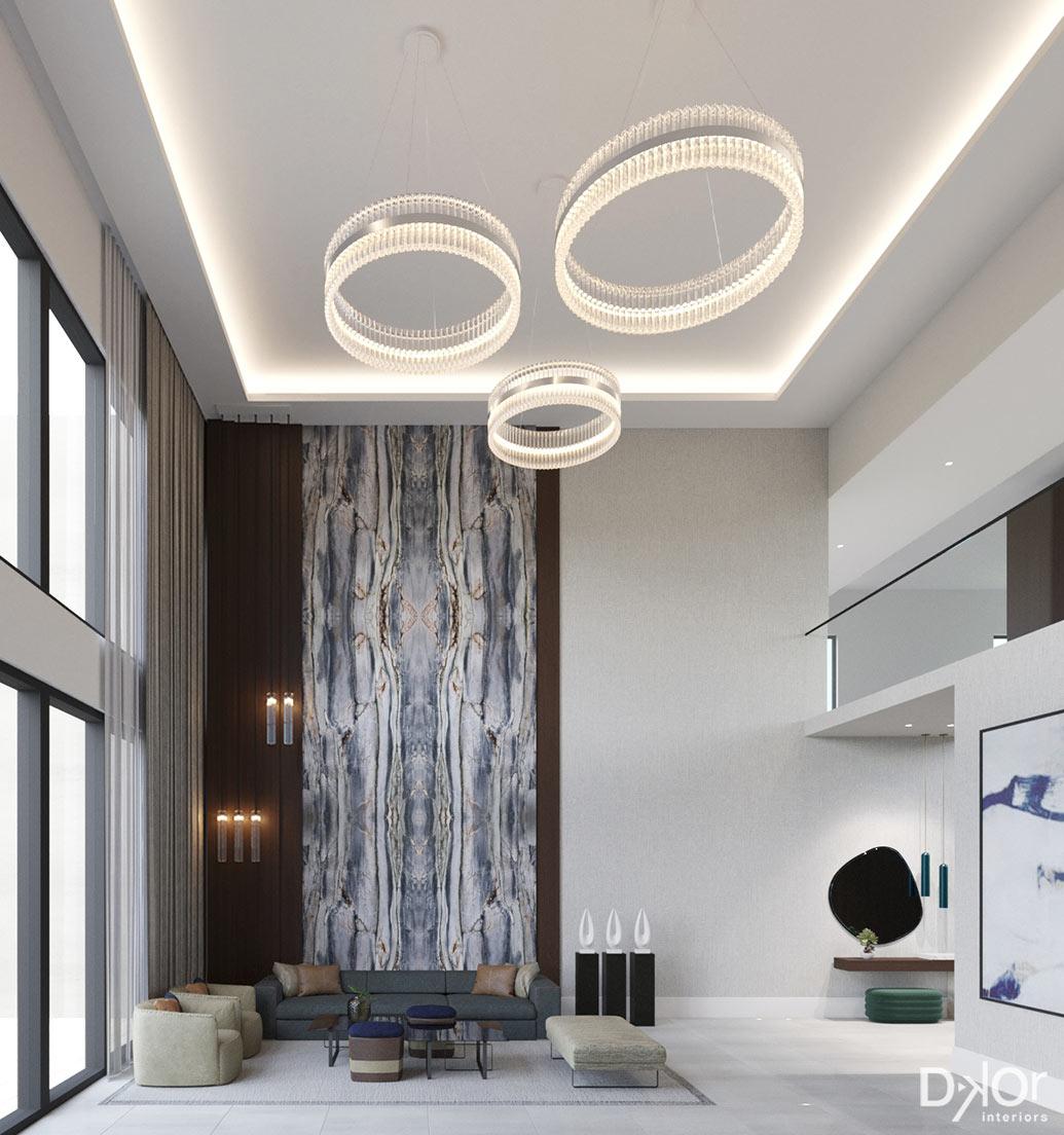 Custom Home Interior Design - Hallandale Beach - Living Room