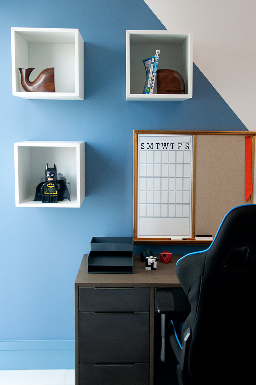 Boys Bedroom Decor - Desk Area