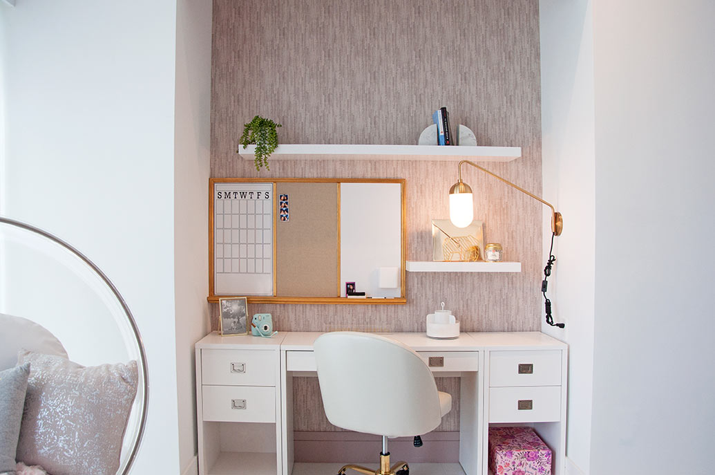 Girls Bedroom Design - Desk Area by DKOR Interiors