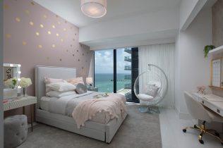 Girls Bedroom Design - Sunny Isles Oceanfront Condo