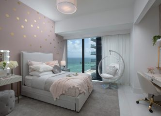 Girls Bedroom Design - Sunny Isles Oceanfront Condo