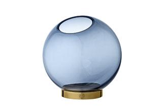 Globe Vase Navy And Gold Amara