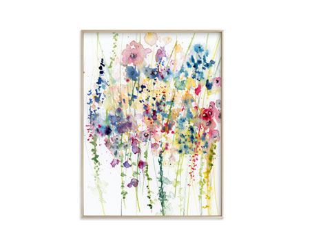 Wildflowers limited edition art
