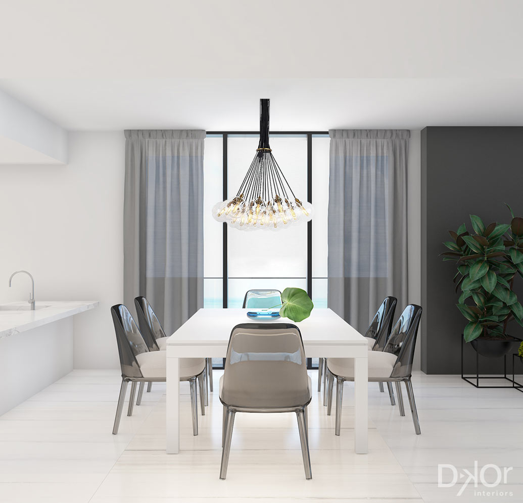 Dining Room Design by DKOR - Sabbia Beach Condo