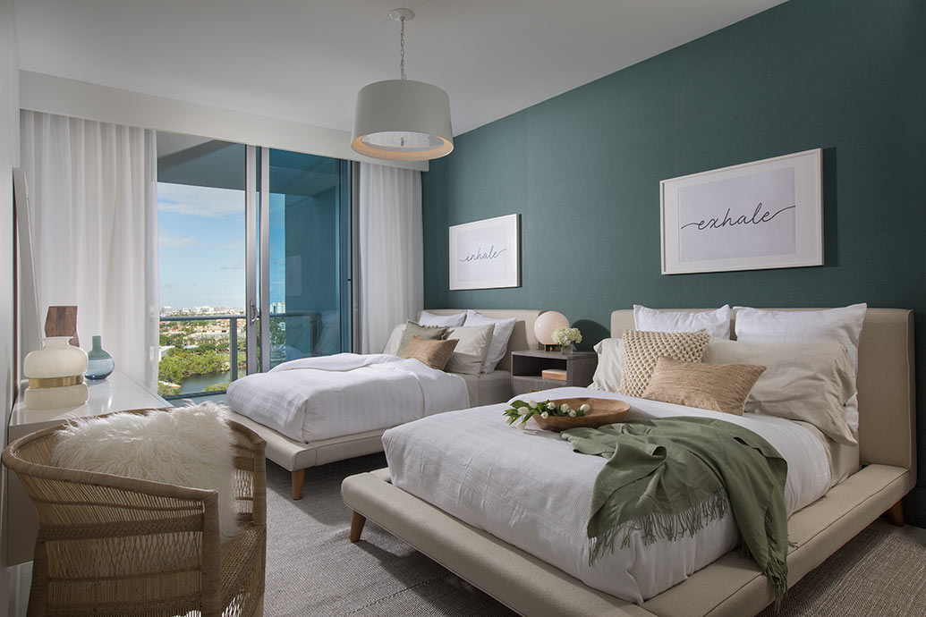 Guest Bedroom Design by Miami Residential Interior Design Firm