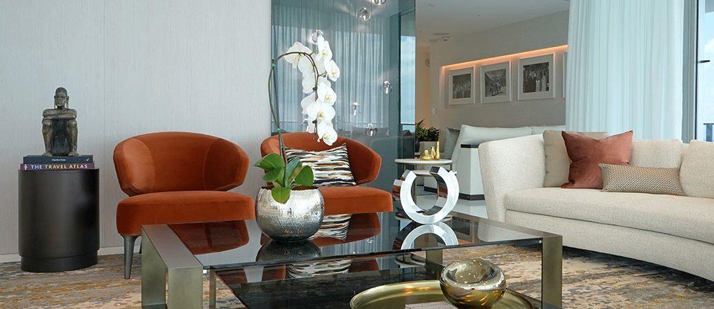 Miami Condo Design: A Modern Living Room by DKOR Interiors