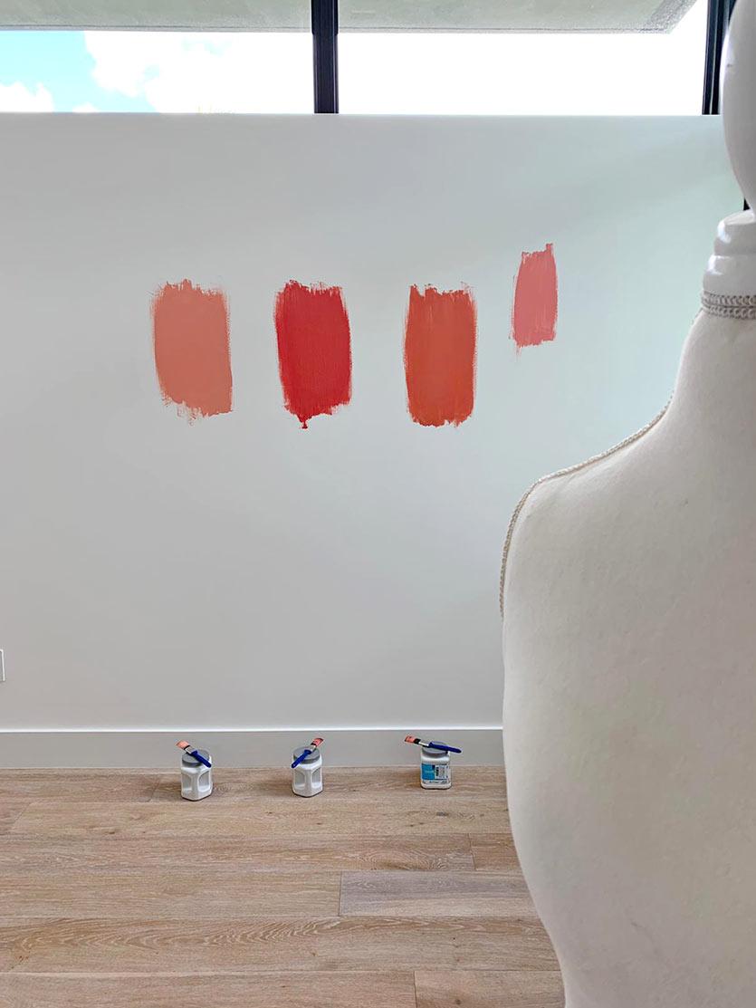 test paint samples - interior design