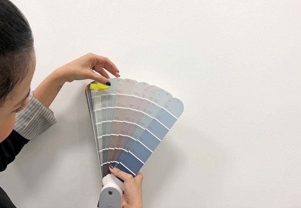 Choosing Interior Paint Colors On Site