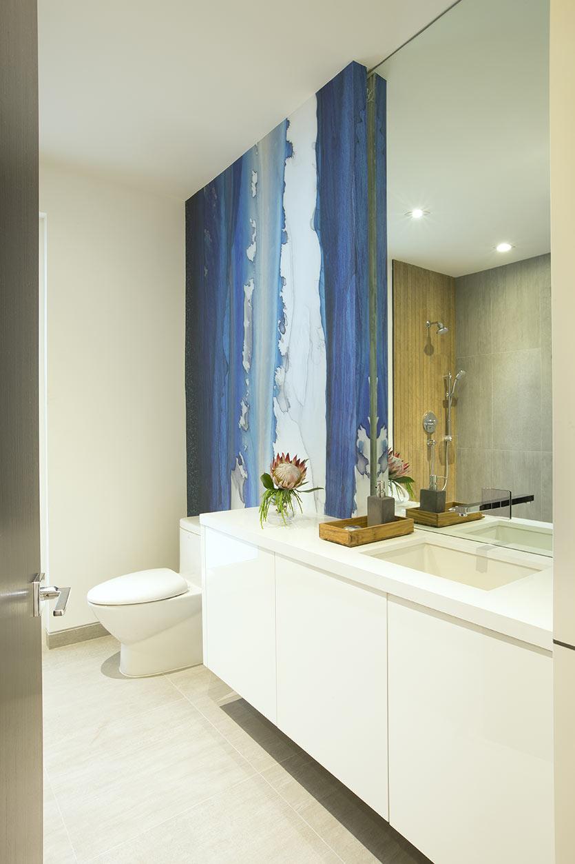 Decoração com papel de parede - Powder Room Design