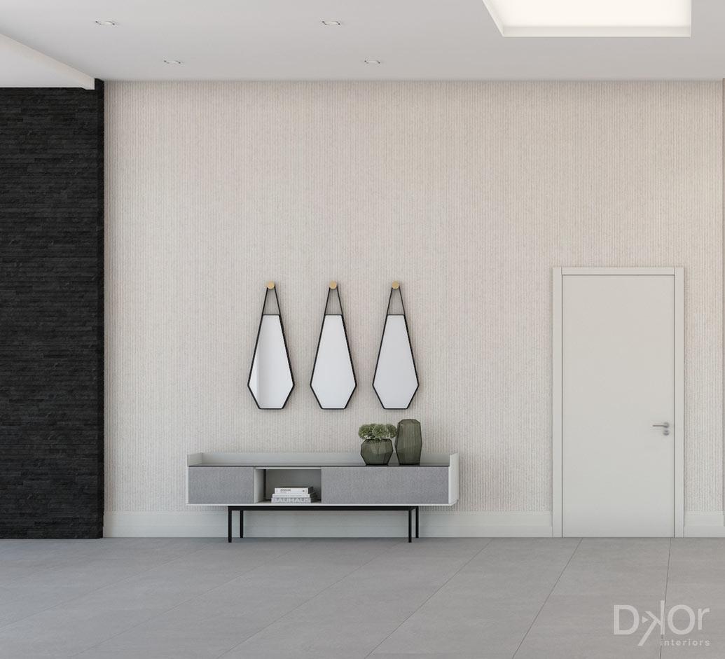 Golden Beach House - Entry Hallway Design
