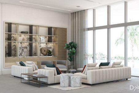 Golden Beach House - Living Room Design